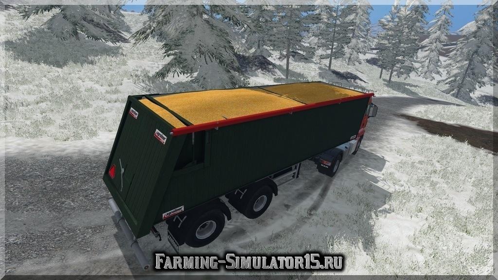 Мод двуосного прицепа Kroeger Agroliner SMK 34 v 1.0 Farming Simulator 15, 2015