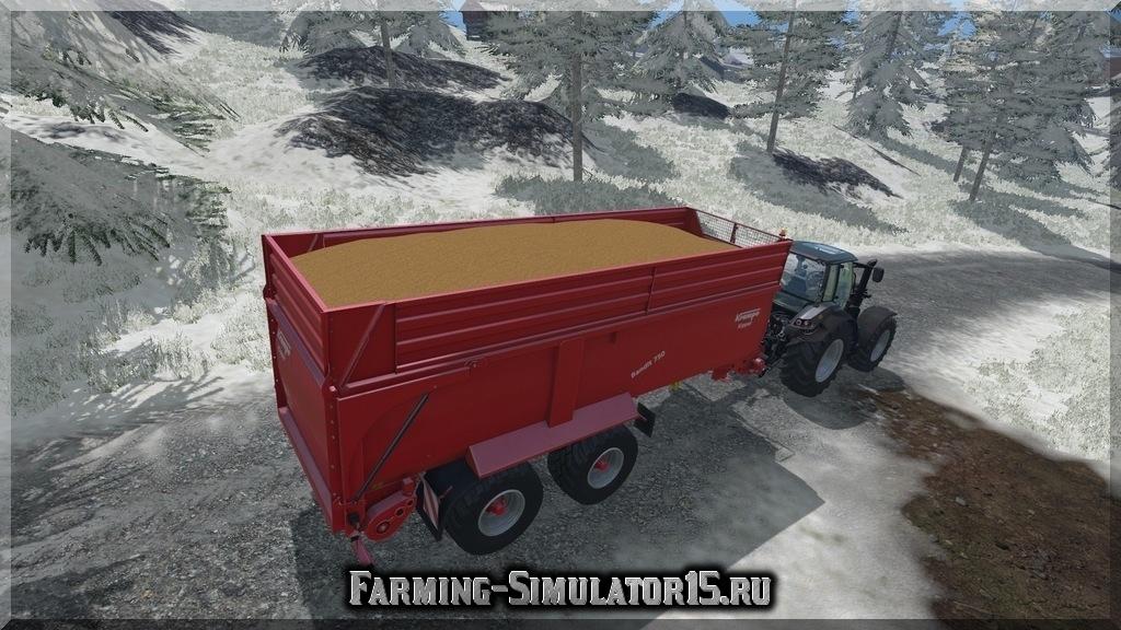 Мод двуосного прицепа Krampe Bandit 750 v 1.0 Farming Simulator 15, 2015