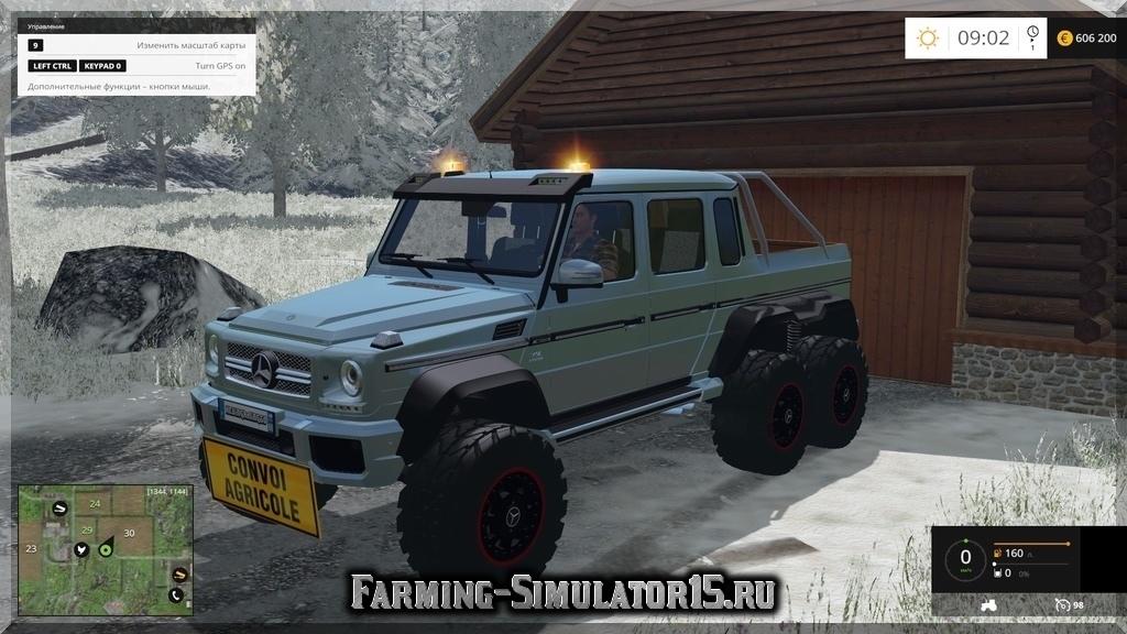 Мод автомобиля Mercedes G65 AMG 6x6 v 1.1 Farming Simulator 15, 2015