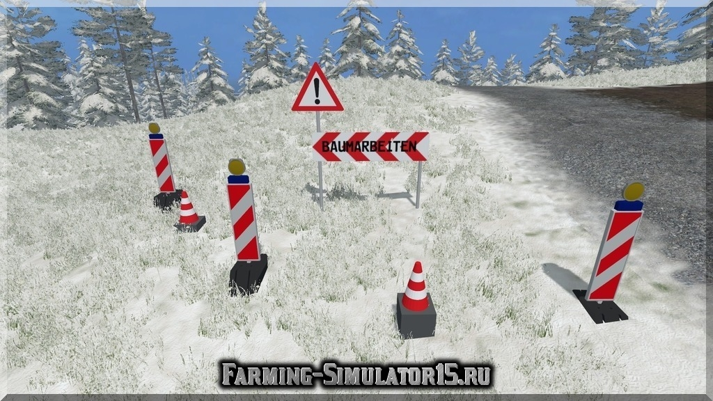 Мод знака Absperrung v 1.1 Placeable Farming Simulator 15, 2015