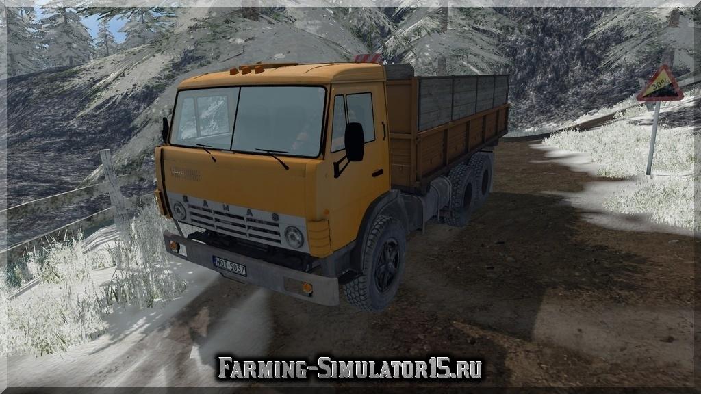Мод грузовика KamAZ 55102 v1.1 Farming Simulator 15, 2015