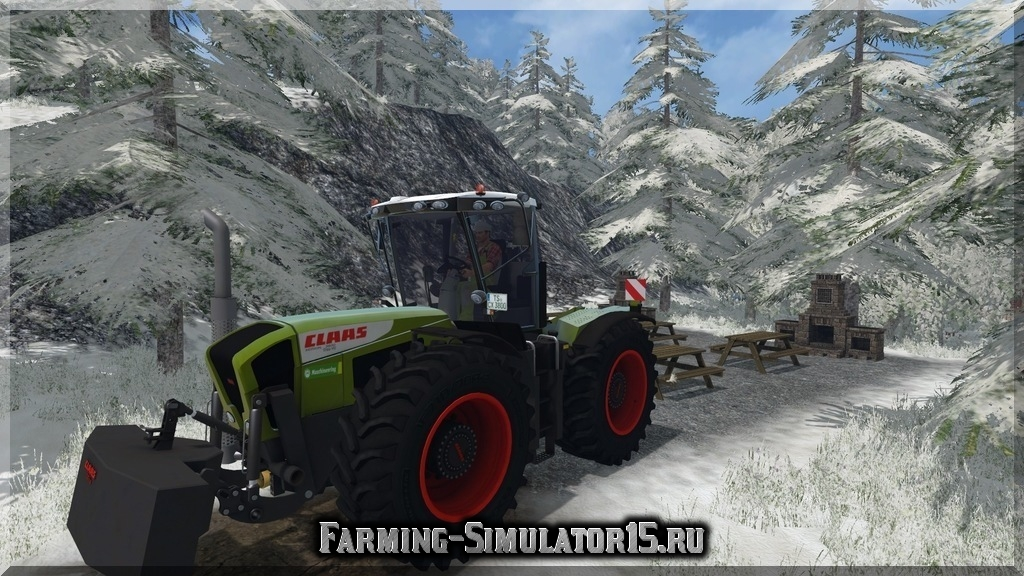 Мод трактора Claas Xerion 3800 Trac VC v1.0 Farming Simulator 2015, 15