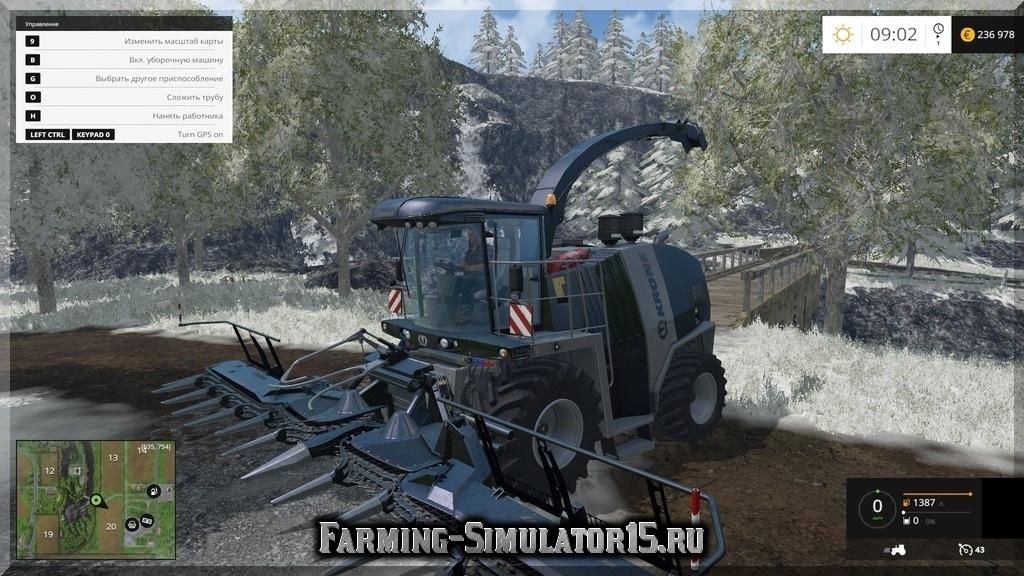Мод комбайна Krone BigX1100 Black Ed. v1.1 Farming Simulator 15, 2015