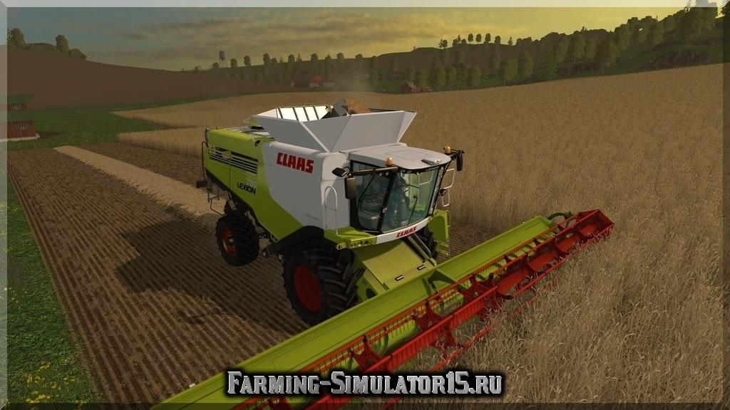 скачать моды на farming simulator 2015 на комбайн