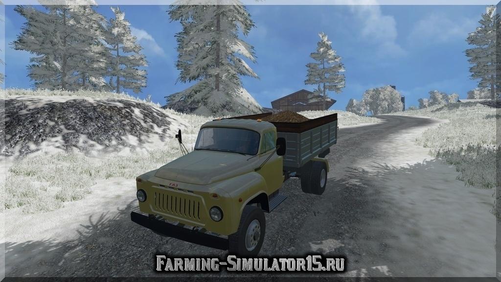 Мод грузовика ГАЗ GAZ 53 Pack v1.0 Farming Simulator 15, 2015