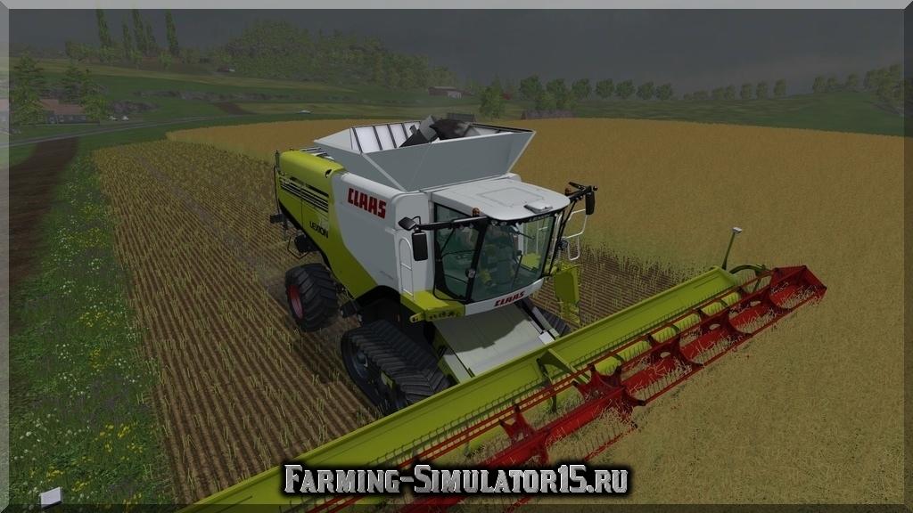 Мод комбайна Claas Lexion 780 TerraTrak Farming Simulator 2015, 15