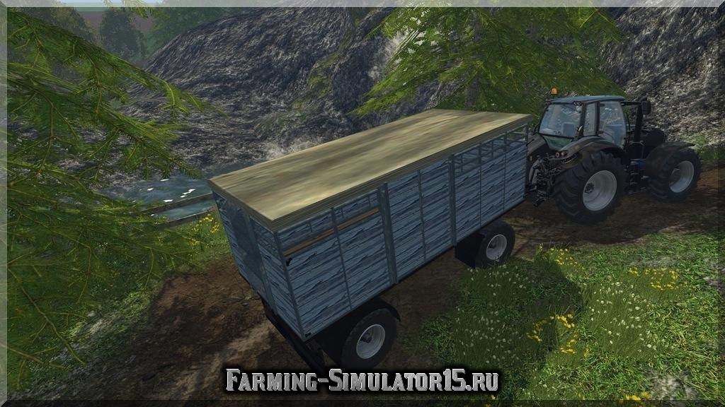 Мод прицепа для перевозки скотины HW Vieh Trailer v1.0 Farming Simulator 2015, 15