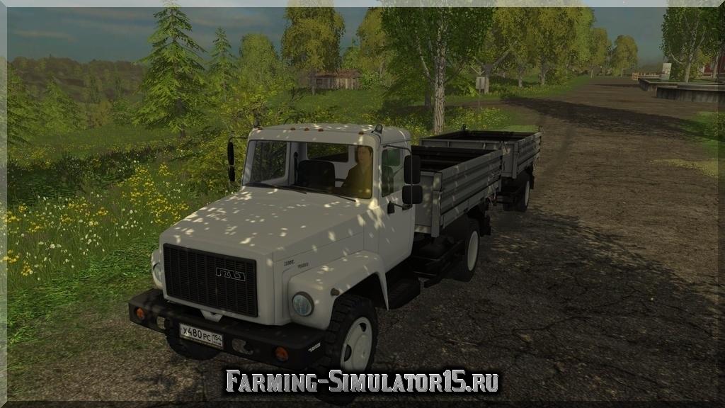 Мод грузовика ГАЗ GAZ SAZ 35071 & SAZ-83173 v3.0 Farming Simulator 15, 2015