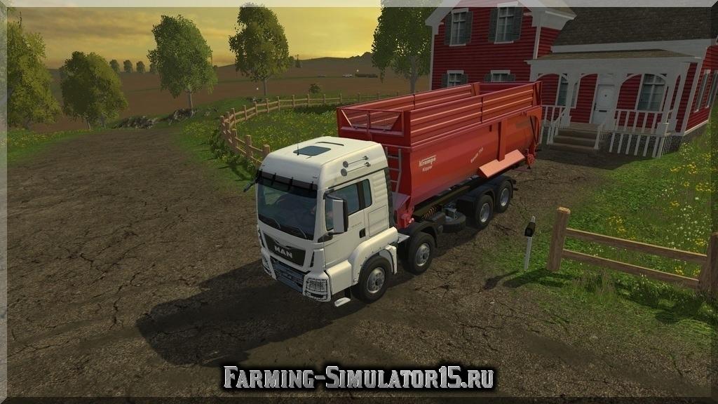 Мод грузовика MAN TGS 8x8 + Krampe Bandit 750 v1.0 Farming Simulator 15, 2015