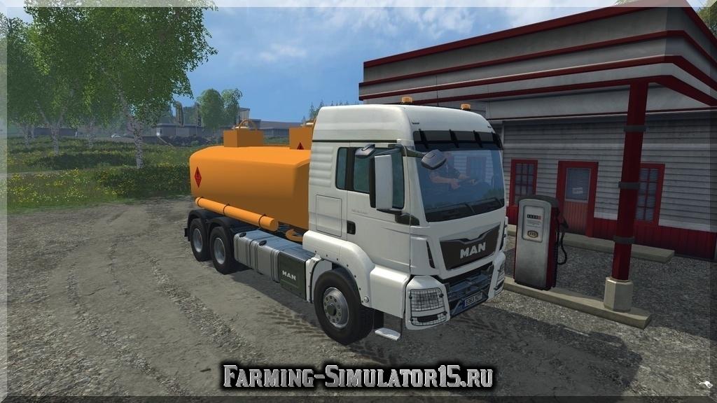 Мод грузовика MAN топливо-заправщик Farming Simulator 15, 2015
