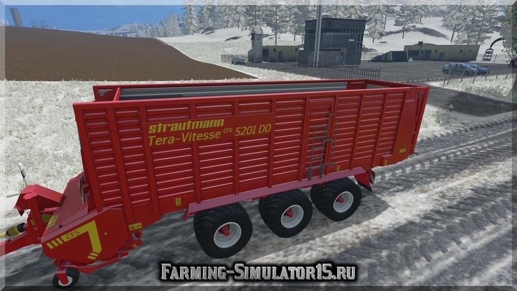 Мод прицепа STRAUTMANN TERAVITESSE 5201 V1.0 Farming Simulator 2015, 15
