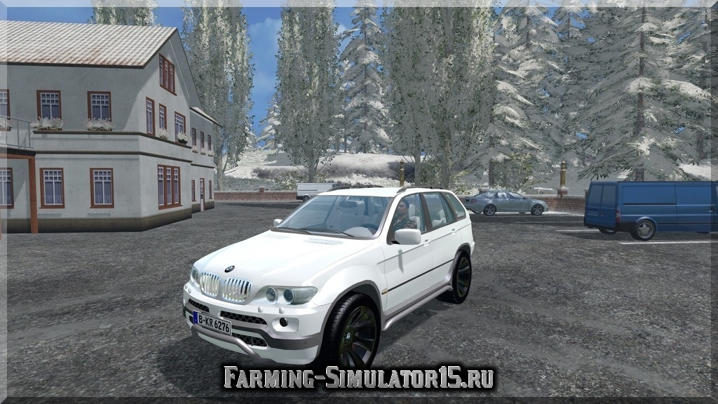 Мод автомобиля BMW X5 4.8 Farming Simulator 2015, 15