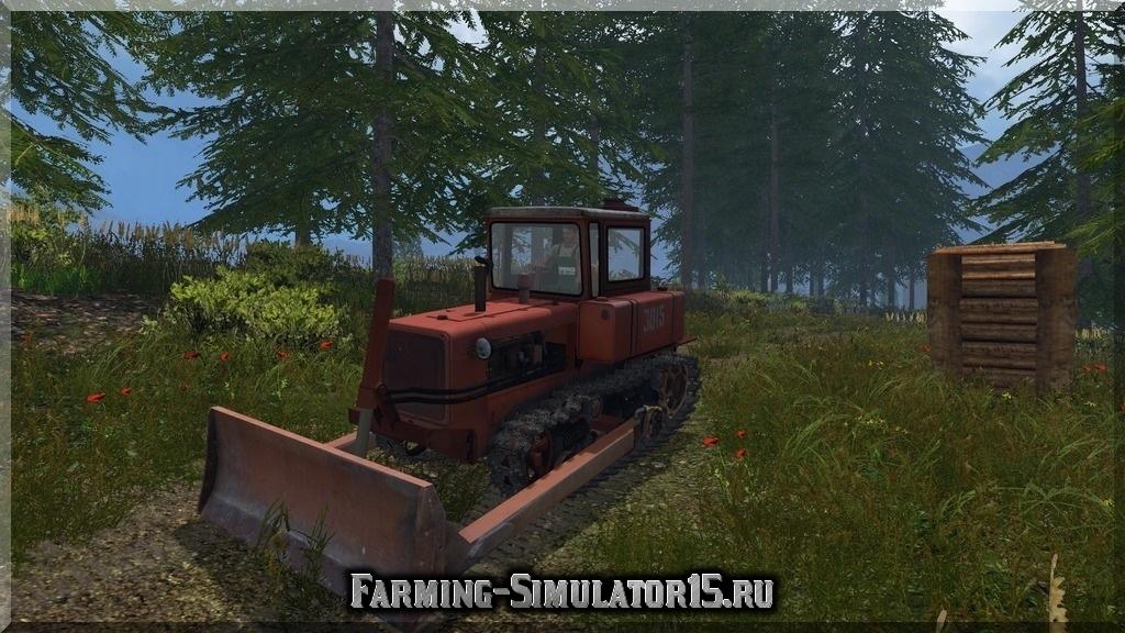 Мод трактора ДТ DT 75 + Otval v1.1 Farming Simulator 2015, 15