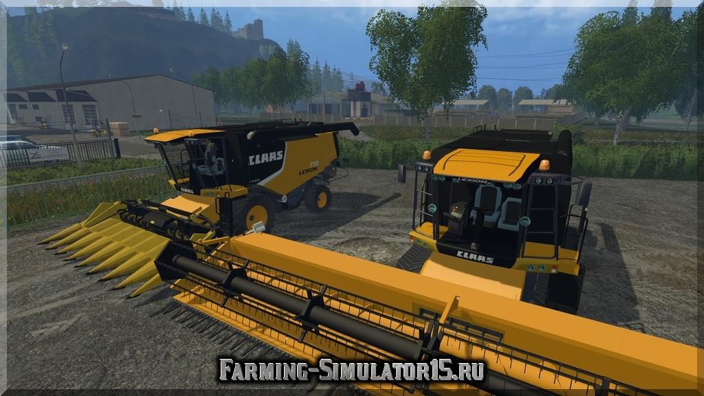 Мод комбайна Claas Lexion 770 American Version v1.0 Farming Simulator 15, 2015