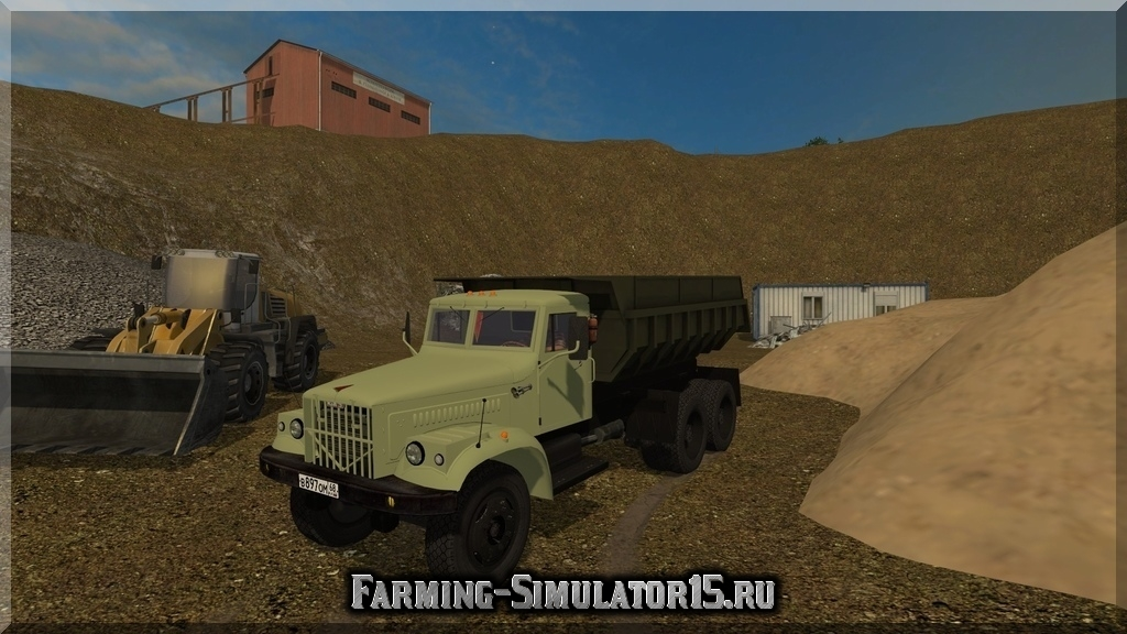 Мод грузовика КРАЗ KrAZ 256 Farming Simulator 15, 2015