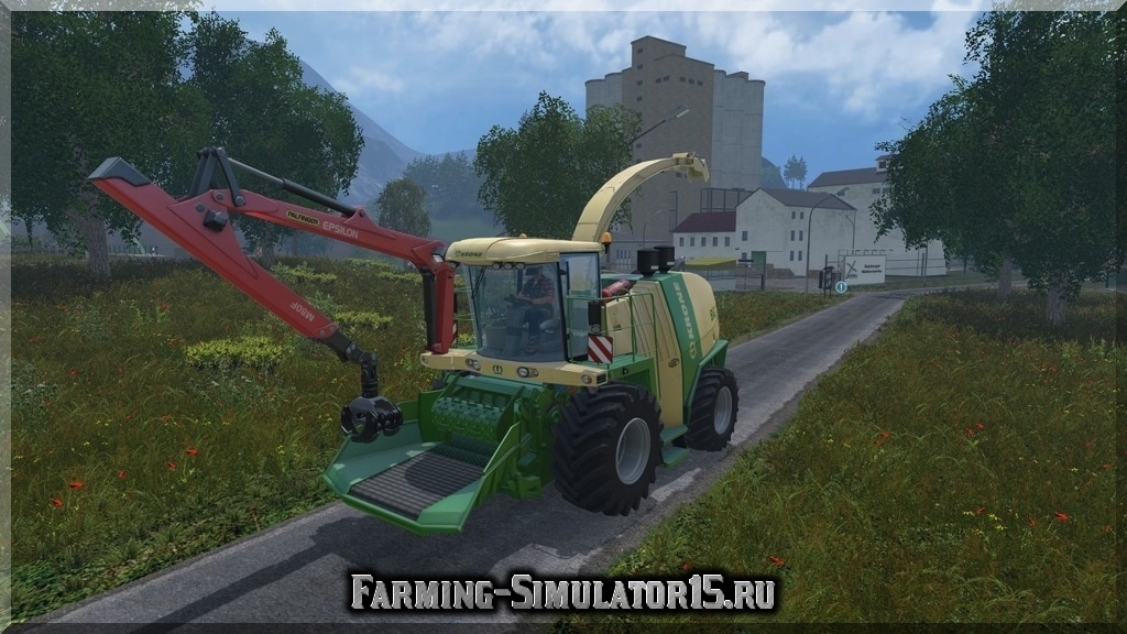 Мод щеподробилки Krone Big X 1100 Crusher v2.0 Farming Simulator 2015, 15
