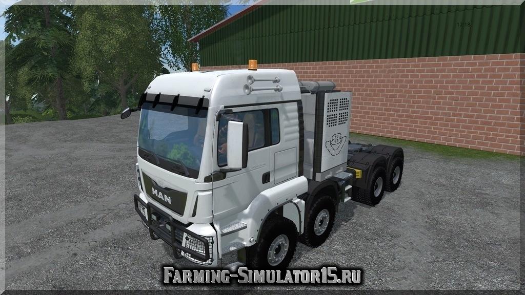 Мод грузовика MAN TGS 41.480 SZM 8x8 V 5.1 Farming Simulator 15