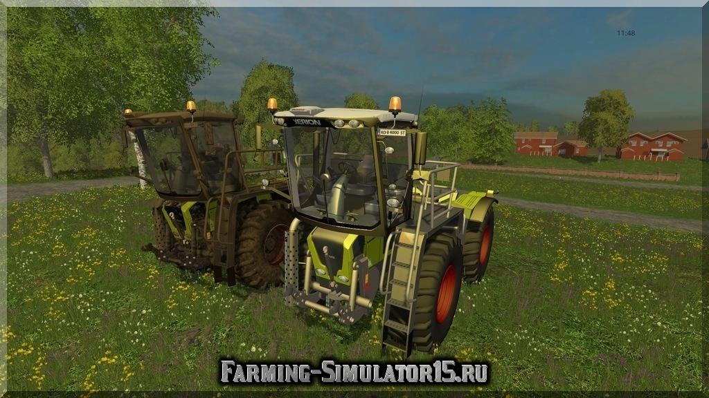 Мод трактора Claas Xerion Saddle Trac 3800 v 1.0 Farming Simulator 2015