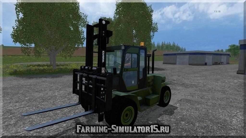 Мод погрузчика Clark Forklift C80 v 4.01 Farming Simulator 2015