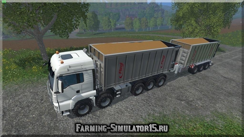 Мод грузовика MAN TGS HKL v 1.0 Farming Simulator 15