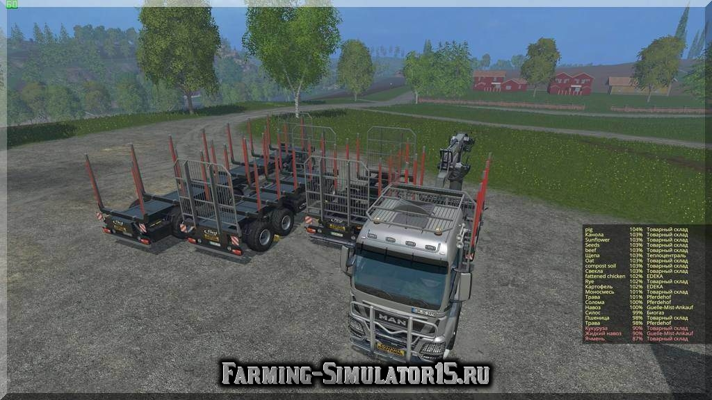 Мод грузовика MAN TGS Forest Set v 2.0 beta Farming Simulator 2015