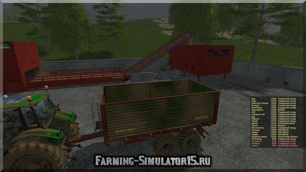 Мод прицепа Fortuna FTD 150 v1.1 Farming Simulator 2015