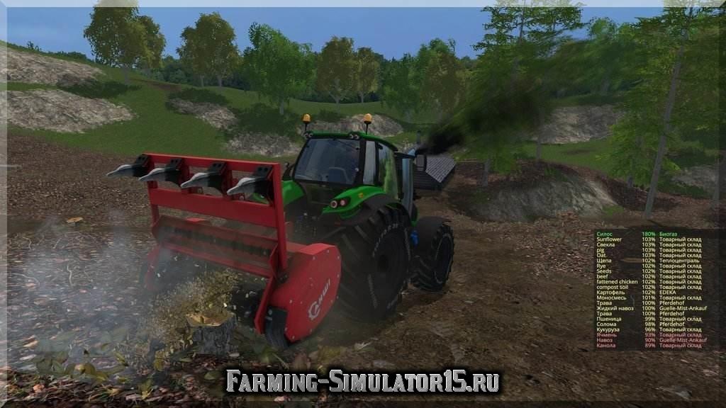 Мод измельчитель пней Ahwi FM700 v 2.0 Farming Simulator 2015