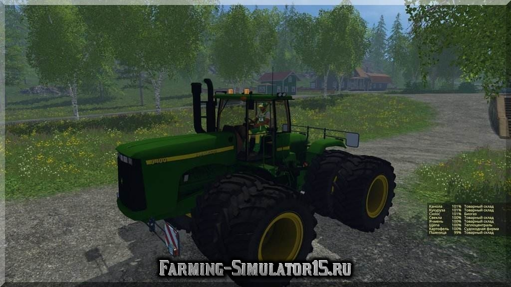 Мод трактора John Deere 9400 v 1.0 Farming Simulator 2015
