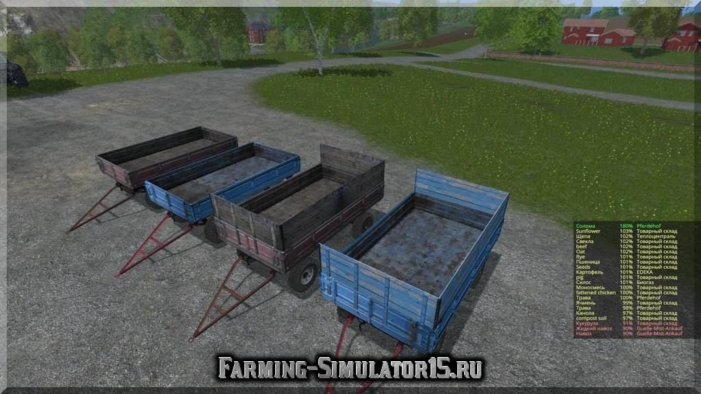 скачать мод для farming simulator 2015 пак прицепов