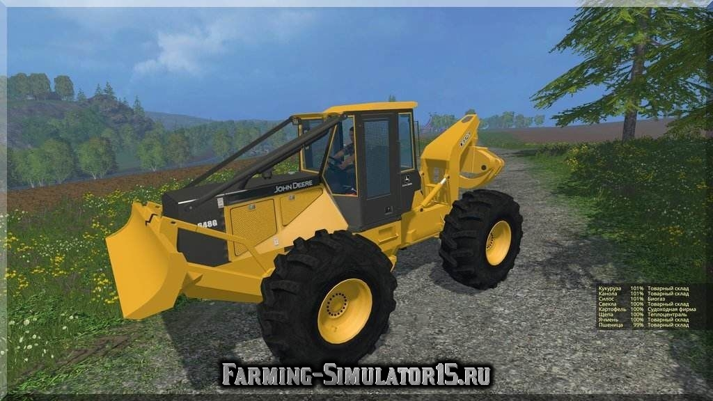 Мод трактора John Deere 648G III v 1.1 Farming Simulator 2015