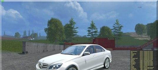 Мод автомобиля Mercedes Benz C350 CDI v 1.1 Farming Simulator 15