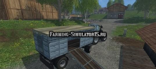 Мод прицеп для перевозки животных HW Animal Trailer v 2.0 Farming Simulator 2015