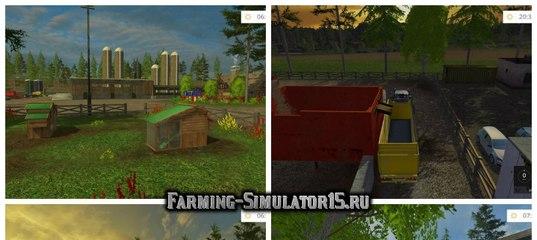 Мод карты RINGWOODS V1.71 UPDATE Farming Simulator 2015