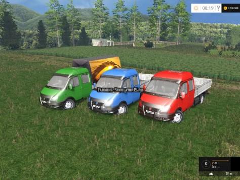 Мод грузовик ГАЗ Валдай GAZ 3310 Valdai v1.0 Farming Simulator 15
