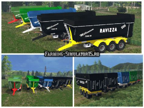 Мод прицеп Ravizza Millenium 7200 v 1.2 Fixed Farming Simulator 15