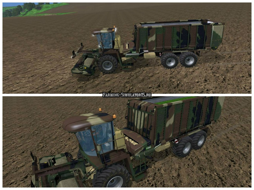 Мод грузовика Camouflage kroneBigL500payable v 2.0 Farming Simulator 2015