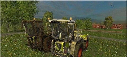 Мод трактор Claas Xerion Saddle Trac 3800 v 2.0 Farming Simulator 15