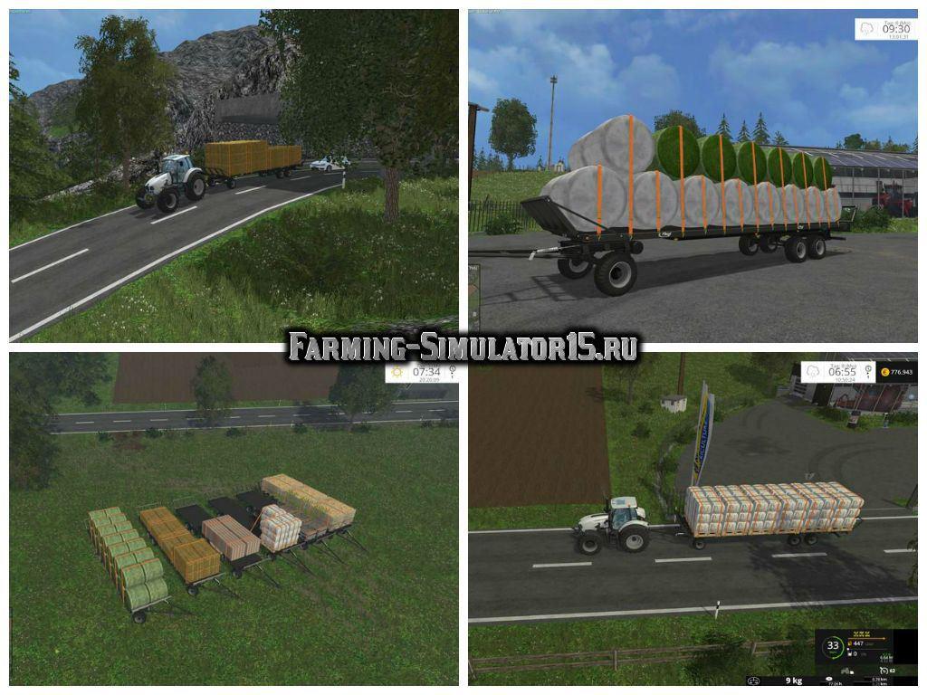 Мод прицеп Fliegl DPW 180 Automatic Charging Function v 2.0 Farming Simulator 2015