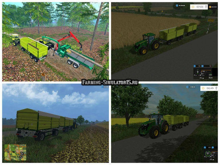 Мод прицеп Fliegl DDK 240 7.80 v 2.0 Farming Simulator 2015