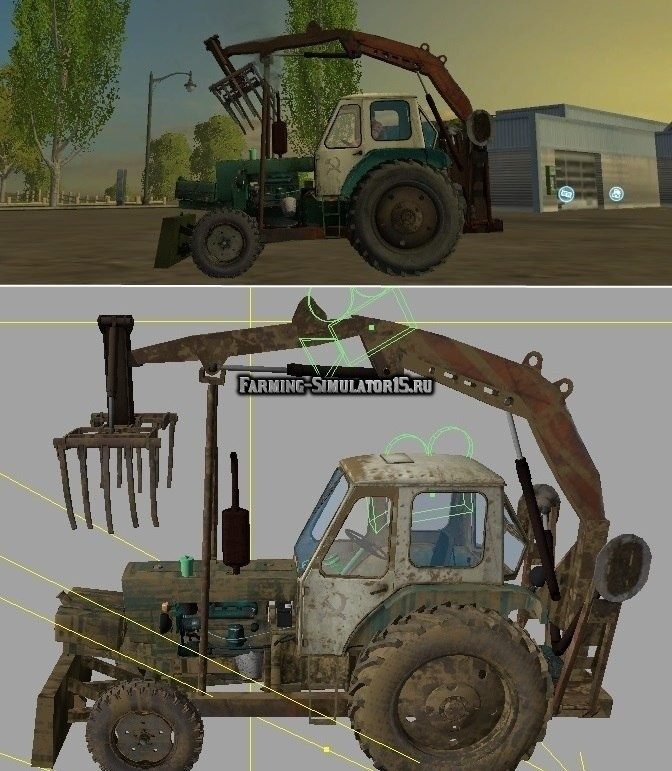 Мод трактор ЮМЗ 6Л Грейфер UMZ v2.0 Фарминг Симулятор 2015