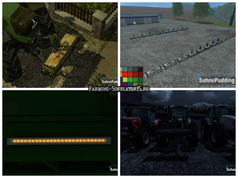 Мод ПАК противовесов Afford Frontgewicht with LED v 2.0 Farming Simulator 15