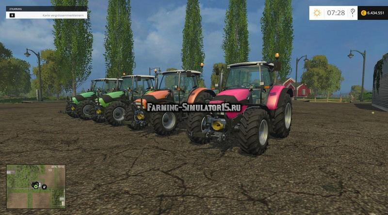 Мод ПАК трактора Deutz Fahr Agrotron K 420 PACK v 1.0 Farming Simulator 15