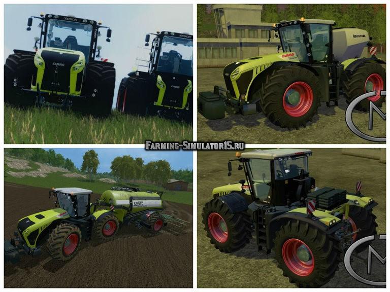 Мод трактор CLAAS Xerion 4500 v 2.0 Farming Simulator 2015