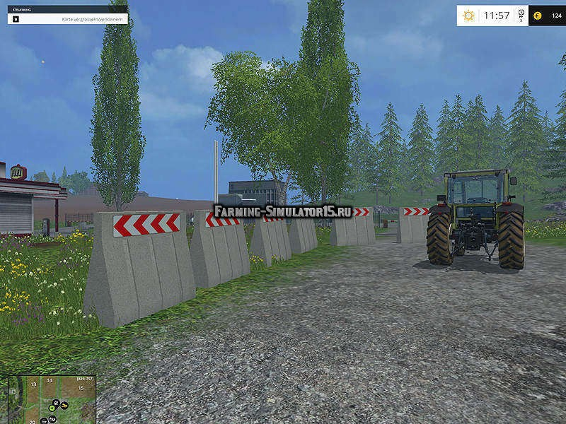 Мод бетонный блок Concrete Block v 1.0 Placeable Farming Simulator 15