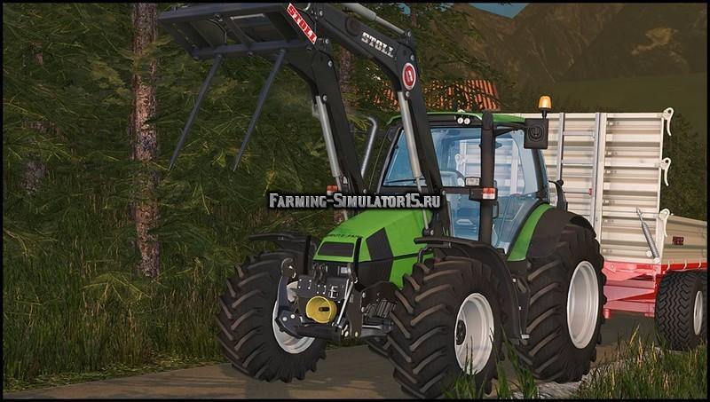 Мод трактор Deutz Fahr Agrotron 120 MK3 V 2.0 Farming Simulator 15