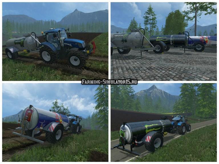 Мод ПАК прицепы для навоза Fliegl VFW 10600 Pack v 1.0 Farming Simulator 15