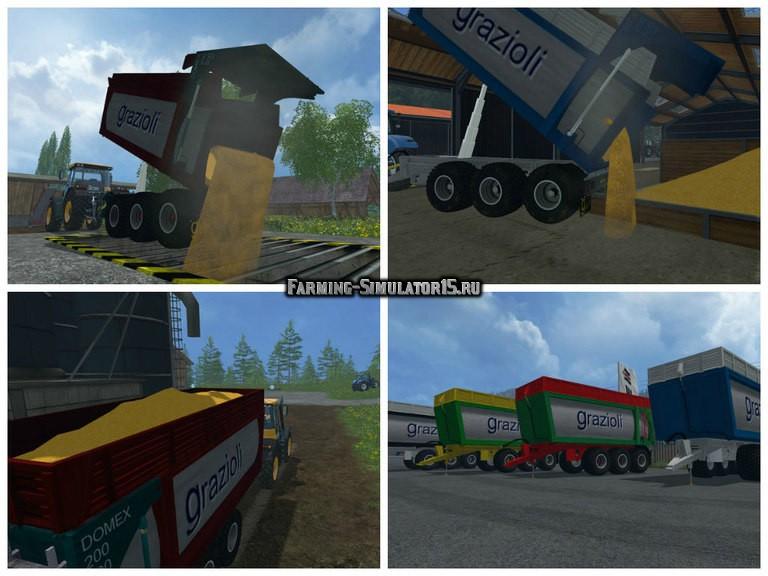 Мод прицеп Grazioli Domex 200 6 v 2.0 Multicolor Pack Farming Simulator 2015