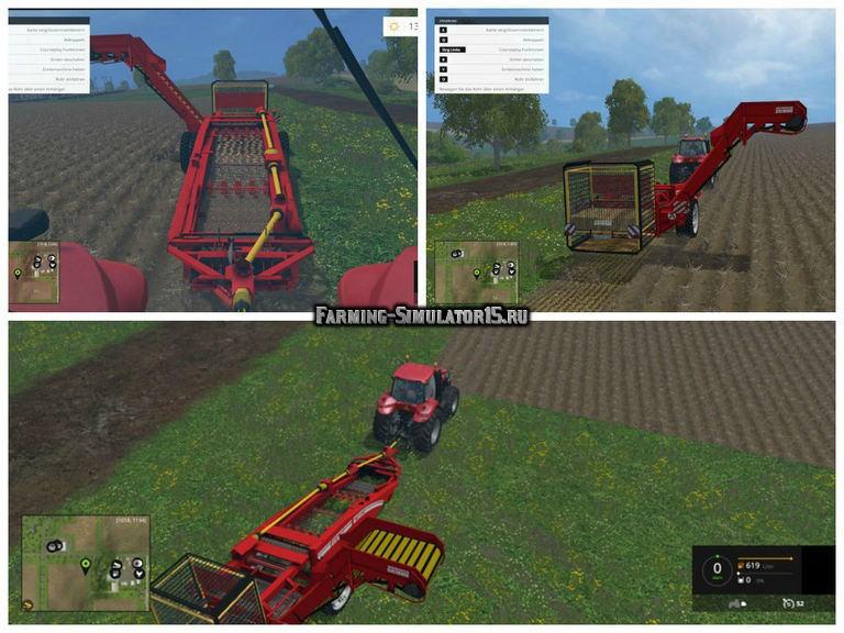 Мод комбайн Grimme GT 170 Bunker v 1.0 Farming Simulator 15