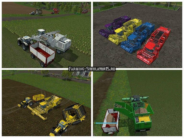 Мод комбайн Grimme Maxtron 620 v 1.3 Farming Simulator 15