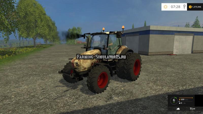 Мод трактор Huerlimann XM4Ti Dual Wheel Camouflage v 1.0 Farming Simulator 2015